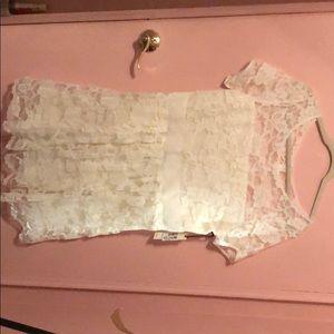 Ivory Lace Short Dress